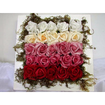 Arranjo De Flores Artificiais, Vaso Decorativo Flor Eva