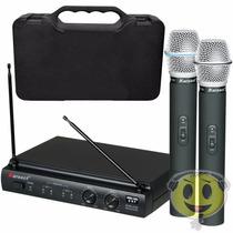 Microfone Sem Fio Duplo Karsect Kru 302 - Loja Kadu Som