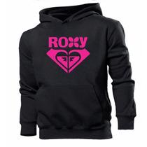 Blusa Casaco Moleton Canguru Roxy - Frete Grátis Promoção