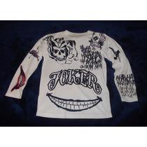 Playera Joker Guasón Tattoos Tatuajes Suicide Squad Batman