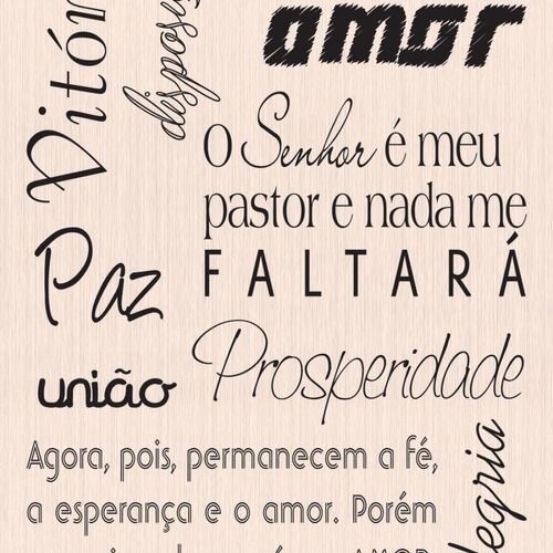 Papel De Parede Frases De Amor Fé Vinil R 9216 Em Mercado Livre