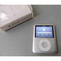 Ipod Nano 4gb Caixa Apple 3 Geração Cinza Prata - Leia Antes