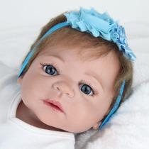 Toda De Vinil Silicone - Boneca Bebe Reborn Victoria 55 Cm