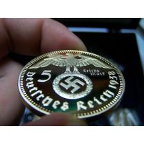 Moneda Alemania Tercer Reich Bañada En Oro 24 K