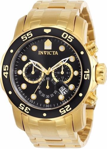 ee4798393ba Relógio Invicta Pro Diver 0072 Plaque Ouro Original - R  699