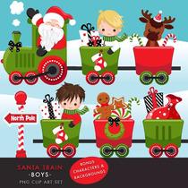 Kit Imprimible Tren De Santa Navidad 1 Imagenes Clipart