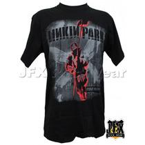 Camisa De Manga Curta Rock Banda Linkin Park Soldado Hybrid