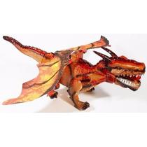 Brinquedo Dragao 45 Cm Que Bate Asas E Anda Dinossauro C/luz