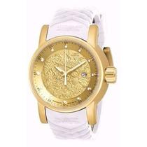 Relógio Invicta S1 Yakuza 19546 Dourado Branco Caixa E Manua