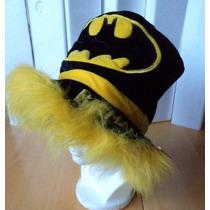 Sombrero De Copa Batman Terciopelo Negro-amarillo F33