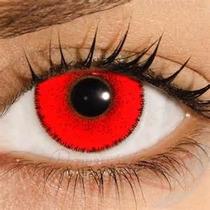Lentes De Contato Vermelha Solflex Color Hype Halloween