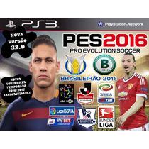 Patch(atualização) Pes2016 Ps3 Brasileirão Temporada 16/17