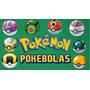 Pokebolas Con 2 Pokemon (ultra/master/ Set Con 2 Figuras )