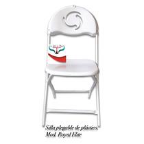 Silla Plegable De Plastico Blanco Royal Elite Nuevo Modelo