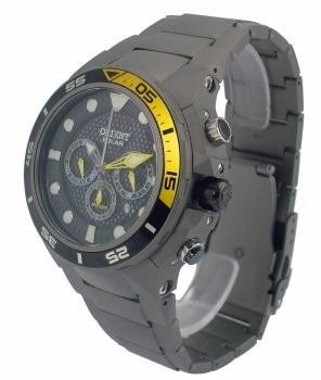 de4b884a55e Relógio Orient Solar Titânio Seatech Mbttc014 - 500 Metros - R ...