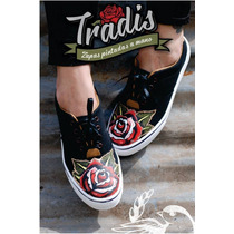 Zapatillas Pintadas Tatoo Tradicional