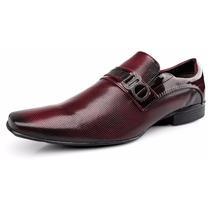 Sapato Masculino Social Zalupe Verniz Luxo Estilo Italiano