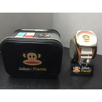 Reloj De Pulso Blanco Naranja Paul Frank Julius & Friends