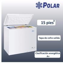 Congelador Tapa De Cofre Solida De 15 Pies Cubicos
