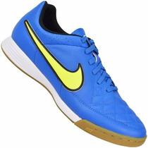 Chuteira Nike Tênis Futsal Tiempo Gênio Couro Premium Origin