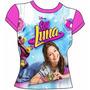 Soy Luna - Polera Manga Corta Disney Talla 12 14 Rosada