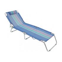 Cadeira Espreguiçadeira Praia Piscina Em Alumínio Azul - Mor