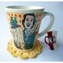 Caneca Porcelana & Coaster Crochê - Obrigada Por Tudo, Mãe
