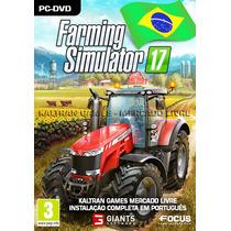 Simulador Fazenda Para Pc - Farming Simulator 2017 - Dvd-rom