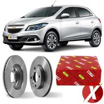 Disco De Freio Dianteiro Varga P/ Gm Chevrolet Onix 1.4 2014