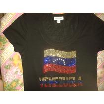 Blusa Franela Con La Bandera De Venezuela Importada Talla S