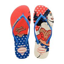 Sandálias Havaianas Slim Heroinas - Azul Mulher Maravilha