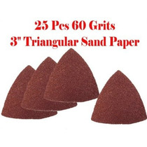 Paquete De Papel De Lija 25 60 3 Sémola Triangular Papel De