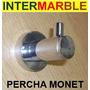 Percha Monet Accesorio Baño Pringles Metalica Cromada+fijac.