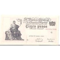 Bottero # 1863 Valor 5 Pesos M$n Año 1952