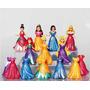 Princesas Disney Magiclip Magic Clip 7 Bonecas + 7 Vestidos