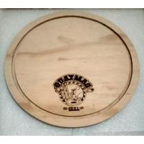 Plato Para Pizza Logotipo Promo Limitada