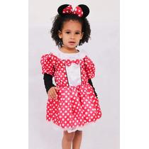 Fantasia Minnie Infantil Roupa Menina + Arco