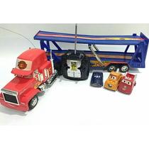 Carreta Controle Remoto Carros Macqueen Com 03 Carrinhos