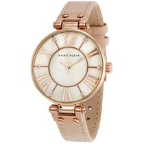 Reloj Anne Klein Acero Oro Rosado Piel Mujer 10/9918rglp
