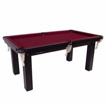 Mesa Sinuca / Bilhar / Snooker 1,87 X 1,08 Tecido Vinho