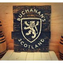 Anuncio Letrero En Madera Whisky Tequila Antiguo Vintage