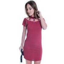 Vestido Básico Com Pedraria - Kam Bess - Ve1398