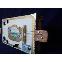 Cigar Box Guitar 4 Cordas Canhoto #063