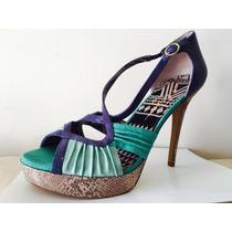 Jessica Simpson Plataformas Taco Zapatos Fiesta Num 41 Usa !