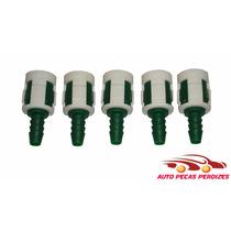 5 Conector Engate Rapido Gasolina Eng Mang Nylon 8mm 8mm