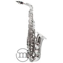 Saxofone Alto Cromado Niquelado Milano Custom Eb Mib + Case