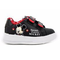 Zapatillas Addnice Disney Baby Mickey Velcro Luz Negro