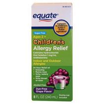 Equiparar El Alivio De La Alergia Grape Flavor Liquid 8 Fl O