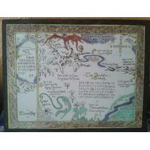 Mapa Del Hobbit En Madera Pirograbada Cualquier Diseño