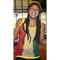 Boina Reggae Con Rastas Pueden Variar Los Diseños Y Colores